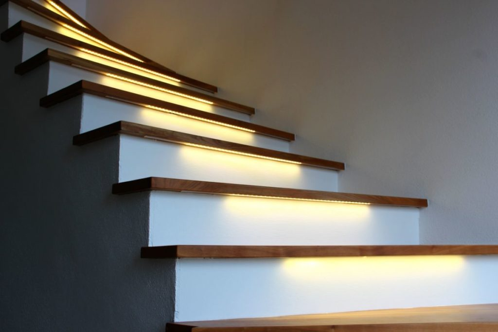 smartLEDs EXCLUSIVE stair lighting control system with LED strip