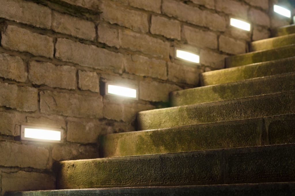 Safe and smart stairs - LED lighting of stone stairs
