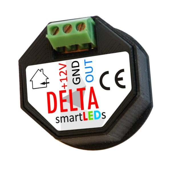 Rear view of smartLEDs DELTA stair optical sensor