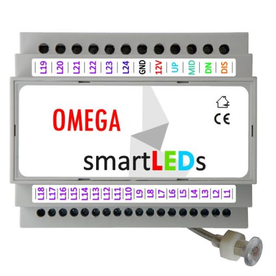 smartLEDs OMEGA – LED lighting stair controller with light probe