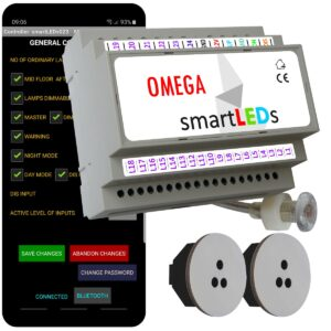 smartLEDs Exclusive smart stairway LED lighting system with Bluetooth application
